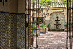 Passaggio d'invito, Tlaquepaque in Sedona, Arizona Fotografie Stock Libere da Diritti
