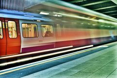 Passaggio dei treni della metropolitana Fotografia Stock Libera da Diritti