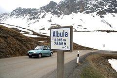 Passaggio del distretto di Albula a Engadin della Svizzera Immagini Stock Libere da Diritti