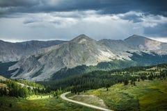 Passaggio del pioppo, spartiacque continentale di Colorado fotografia stock libera da diritti