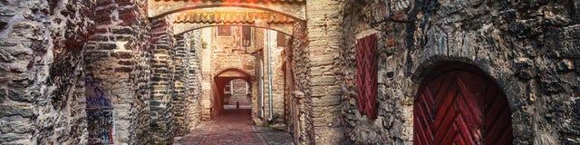 Passaggio del ` s della st Catherine a Tallinn, Estonia immagine stock libera da diritti
