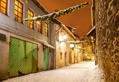 Passaggio del ` s della st Catherine - una piccola via storica a Tallinn, Estonia fotografia stock libera da diritti