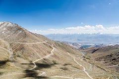 Passaggio della La di Khardung in Ladakh, India Fotografie Stock Libere da Diritti