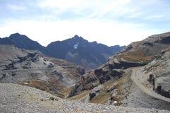 Passaggio di alta montagna delle Ande Fotografie Stock Libere da Diritti