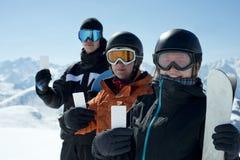 Passaggio di ammissione del gruppo degli sport invernali fotografia stock libera da diritti
