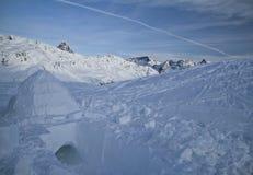 Passaggio di Bernina - iglù Fotografia Stock Libera da Diritti