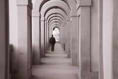 Passaggio di Corridoio Vasariano, Firenze Fotografie Stock