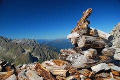 Passaggio di elevata altitudine. Alpi italiane Immagine Stock Libera da Diritti
