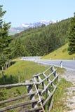 Passaggio di Gerlos, una strada a pedaggio in Austria Fotografia Stock