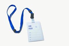 Passaggio di identificazione della collana immagini stock libere da diritti