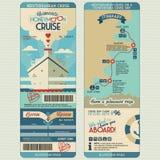 Passaggio di imbarco di crociera di luna di miele illustrazione vettoriale
