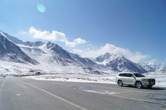 Passaggio di Khunjerab immagine stock