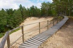Passaggio di legno nelle dune in Roja, Lettonia Fotografie Stock Libere da Diritti
