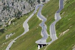 Passaggio di montagna di Furka Fotografie Stock Libere da Diritti