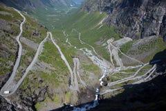 Passaggio di montagna di Trollstigen Fotografia Stock