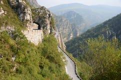 Passaggio di montagna nel Nord della Spagna Immagine Stock