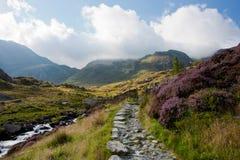 Passaggio di montagna, Snowdonia, Galles Immagine Stock