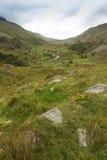 Passaggio di Nant Ffrancon, dal cottage di Ogwen Fotografie Stock Libere da Diritti