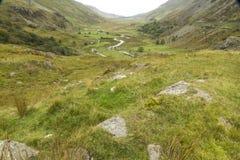 Passaggio di Nant Ffrancon, dal cottage di Ogwen Immagine Stock Libera da Diritti