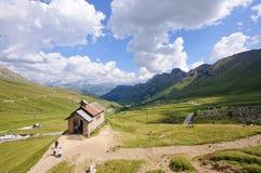 Passaggio di Pordoi - dolomia, Italia Fotografie Stock Libere da Diritti