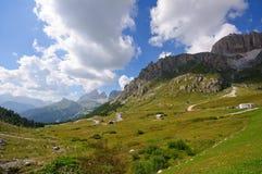 Passaggio di Pordoi - dolomia, Italia Fotografia Stock Libera da Diritti