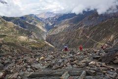 Passaggio di Sangda, Nepal Fotografia Stock Libera da Diritti