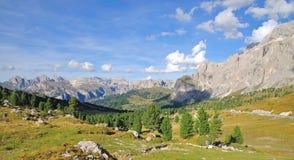 Passaggio di Sella, Val Gardena, Tirolo del sud, dolomia Fotografia Stock