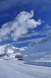 Passaggio di Simplon, alpi svizzere, Wallis. Fotografie Stock