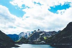 Passaggio di St Bernard in Svizzera fotografie stock libere da diritti