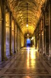 Passaggio di Venezia con luce dorata Immagini Stock