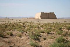 Passaggio di Yuemen Guan, deserto di Gobi Dunhuang Cina Fotografie Stock