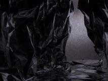 Passaggio fra due rocce Paesaggio fantastico del di alluminio sgualcito immagini stock libere da diritti