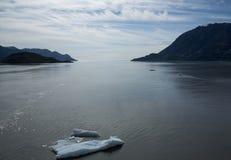 Passaggio ghiacciato degli stretti nell'Alaska Fotografia Stock Libera da Diritti