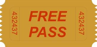 Passaggio libero del biglietto Immagine Stock Libera da Diritti