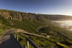 Passaggio pedonale all'aperto che scende il lato di una collina Fotografia Stock Libera da Diritti