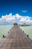 Passaggio pedonale artificiale dell'isola di Kapalai Fotografia Stock Libera da Diritti