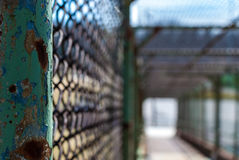 Passaggio pedonale d'acciaio del portone Fotografia Stock