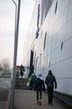 Passaggio pedonale del centro commerciale di Bucarest Fotografia Stock