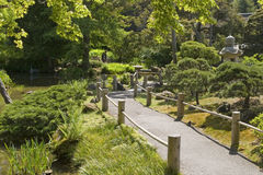 Passaggio pedonale del giardino di tè Fotografia Stock