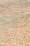 Passaggio pedonale del mattone su soleggiato immagini stock libere da diritti
