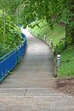 Passaggio pedonale del parco della città Fotografia Stock