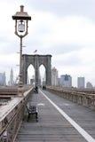 Passaggio pedonale del ponte di Brooklyn Fotografie Stock