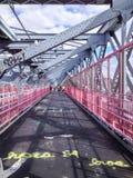 Passaggio pedonale del ponte di Williamsburg Immagini Stock Libere da Diritti
