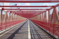 Passaggio pedonale del ponte di Williamsburg Immagine Stock