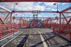 Passaggio pedonale del ponte di Williamsburg Fotografia Stock