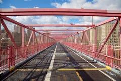 Passaggio pedonale del ponte di Williamsburg Fotografie Stock