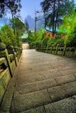 Passaggio pedonale del tempiale dello Shan di Wudang Fotografia Stock Libera da Diritti