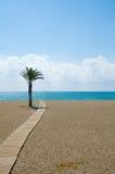 Passaggio pedonale della spiaggia fotografie stock