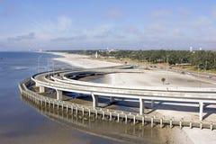 Passaggio pedonale della spiaggia dell'autostrada interstatale Fotografia Stock