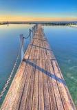Passaggio pedonale dello stagno dell'oceano Immagini Stock
